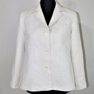 TALBOTS petite loose fit striped jackets size 6